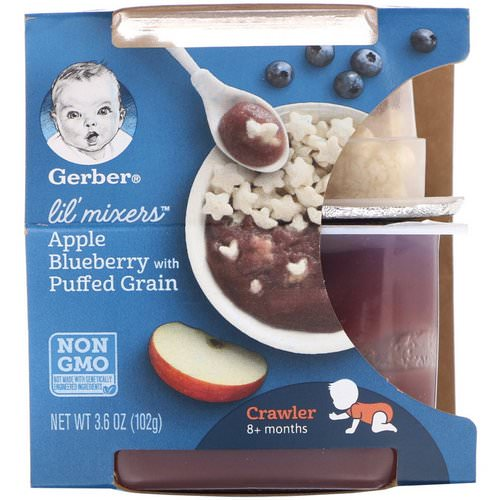 Gerber, Lil' Mixers, 8+ Months, Apple Blueberry With Puffed Grain, 3.6 oz (102 g) Review
