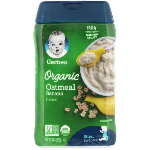 Gerber, Organic Oatmeal Cereal, Sitter, Banana, 8 oz (227 g) Review