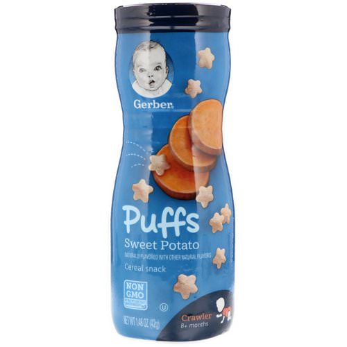 Gerber, Puffs Cereal Snack, Crawler, 8+ Months, Sweet Potato, 1.48 oz (42 g) Review