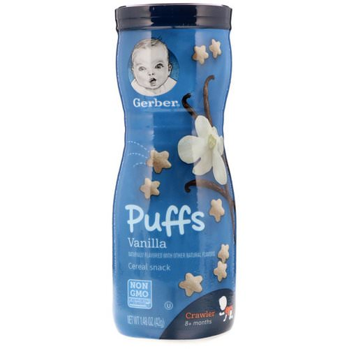 Gerber, Puffs Cereal Snack, Vanilla, 8+ Months, 1.48 oz (42 g) Review