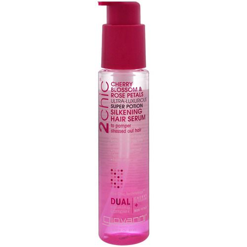Giovanni, 2chic, Ultra-Luxurious Super Potion Silkening Hair Serum, Cherry Blossom & Rose Petals, 2.75 fl oz (81 ml) Review