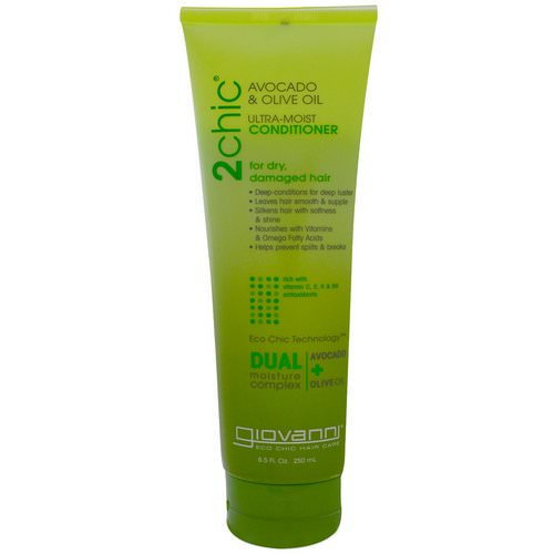 Giovanni, 2chic, Ultra-Moist Conditioner, for Dry, Damaged Hair, Avocado & Olive Oil, 8.5 fl oz (250 ml) Review