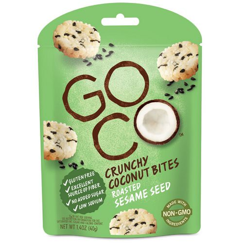 GoCo, Crunchy Coconut Bites, Roasted Sesame Seed, 1.4 oz (40 g) Review