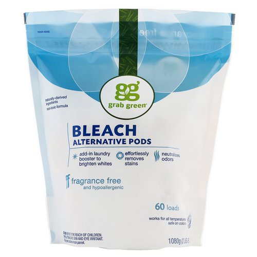 Grab Green, Bleach Alternative Pods, Fragrance Free, 60 Loads, 2 lbs 6 oz (1080 g) Review