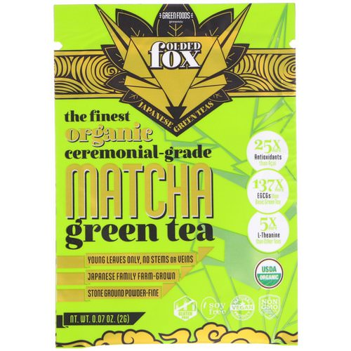 Green Foods, Folded Fox, Organic Matcha Green Tea, 0.07 oz (2 g) Review