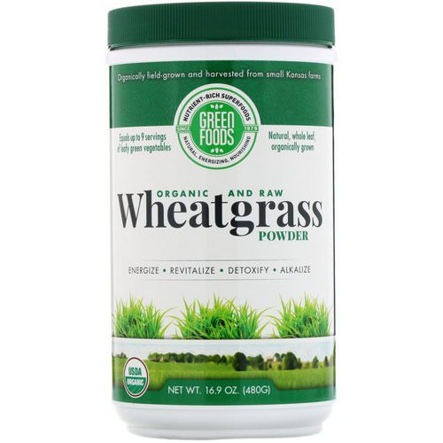Green Foods, Organic and Raw Wheatgrass Powder, 16.9 oz (480 g) Review