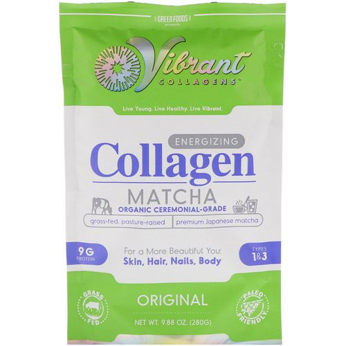 Green Foods, Vibrant Collagens, Energizing Collagen Matcha, Original, 9.88 oz (280 g) Review