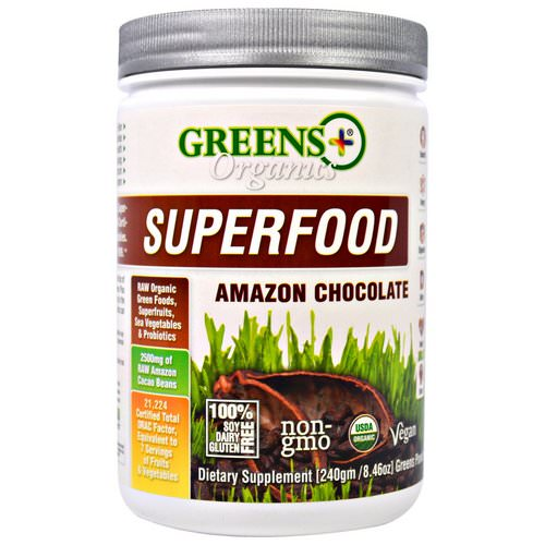 Greens Plus, Organics Superfood, Amazon Chocolate, 8.46 oz (240 g) Review