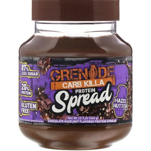 Grenade, Carb Killa Protein Spread, Chocolate Hazelnut Flavor, 12.7 oz (360 g) Review