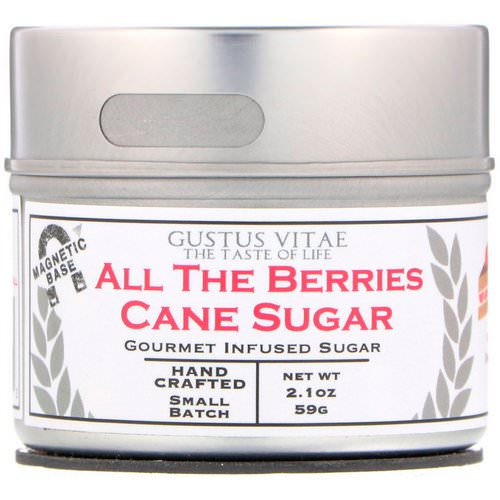 Gustus Vitae, Cane Sugar, All The Berries, 2.1 oz (59 g) Review