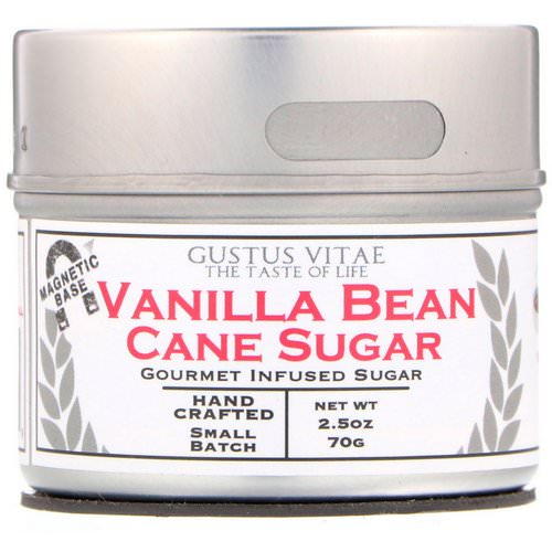 Gustus Vitae, Cane Sugar, Vanilla Bean, 2.5 oz (70 g) Review