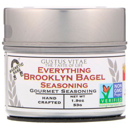 Gustus Vitae, Everything Brooklyn Bagel Seasoning, 1.9 oz (53 g) Review