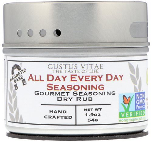 Gustus Vitae, Gourmet Seasoning Dry Rub, All Day Every Day Seasoning, 1.9 oz (54 g) Review