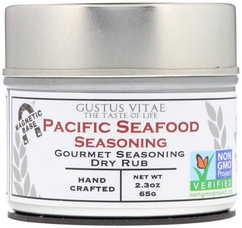 Gustus Vitae, Gourmet Seasoning Dry Rub, Pacific Seafood Seasoning, 2.3 oz (65 g) Review