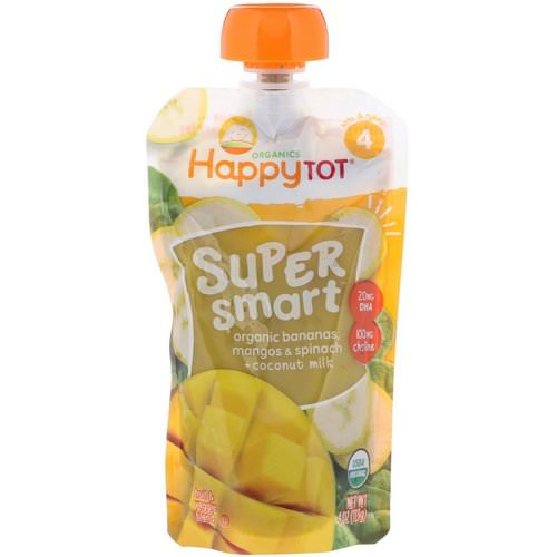Happy Family Organics, Happy Tot, Super Smart, Fruit & Veggie Blend, Stage 4, Organic Bananas, Mangos & Spinach + Coconut Milk, 4 oz (113 g) Review