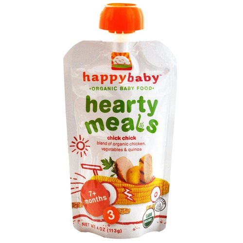 Happy Family Organics, Organic Baby Food, Hearty Meals, Chick Chick, Stage 3, 4 oz (113 g) Review
