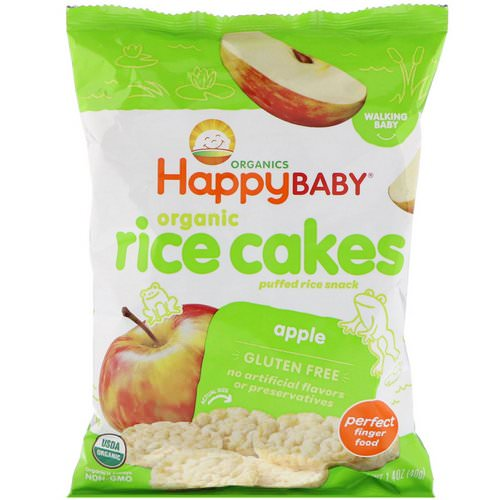 Happy Family Organics, Organic Rice Cakes, Puffed Rice Snack, Apple, 1.4 oz (40 g) Review