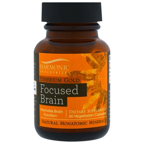Harmonic Innerprizes, Etherium Gold, Focused Brain, 60 Vegetarian Capsules Review