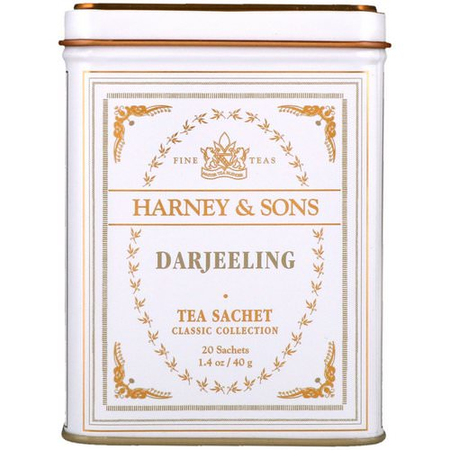 Harney & Sons, Fine Teas, Darjeeling, 20 Tea Sachets, 1.4 oz (40 g) Review