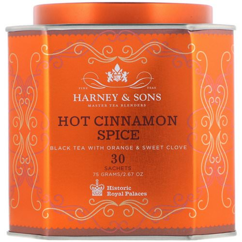 Harney & Sons, Hot Cinnamon Spice, Black Tea with Orange & Sweet Clove, 30 Sachets, 2.67 oz (75 g) Review