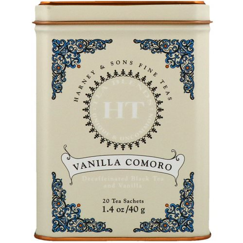 Harney & Sons, HT Tea Blend, Vanilla Comoro Tea, 20 Tea Sachets, 1.4 oz (40 g) Review