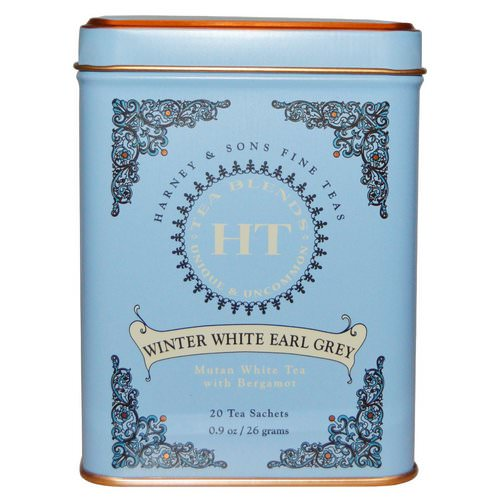 Harney & Sons, Winter White Earl Grey Tea, 20 Tea Sachets, 0.9 oz (26 g) Review
