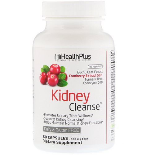 Health Plus, Kidney Cleanse, 550 mg, 60 Capsules Review