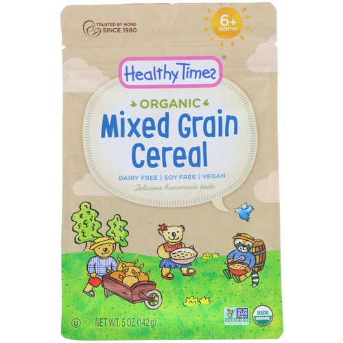 Healthy Times, Organic, Mixed Grain Cereal, 6+ Months, 5 oz (142 g) Review