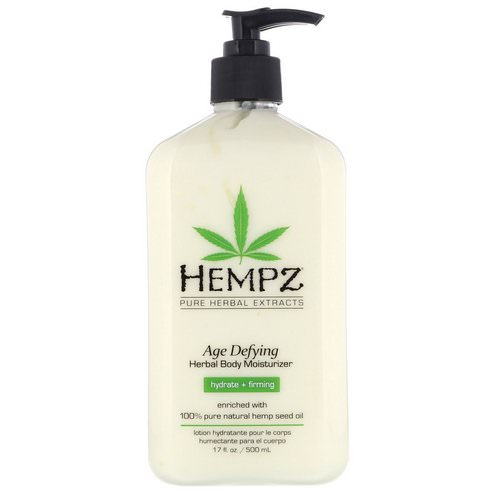 Hempz, Age Defying Herbal Body Moisturizer, Hydrate + Firming, 17 fl oz (500 ml) Review
