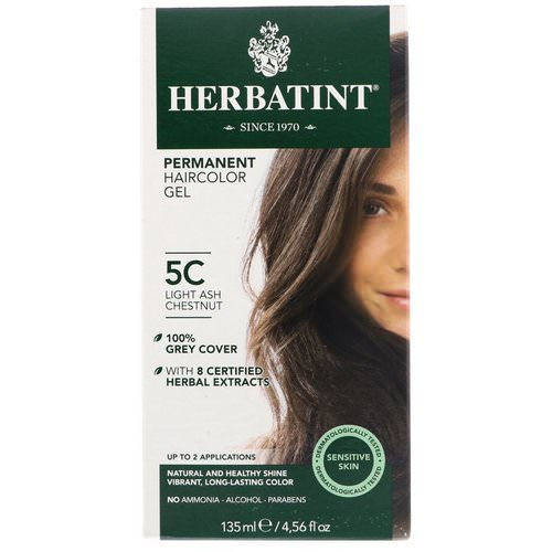 Herbatint, Permanent Haircolor Gel, 5C, Light Ash Chestnut, 4.56 fl oz (135 ml) Review