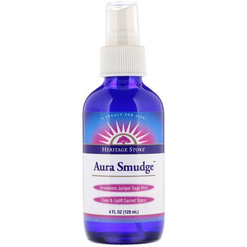 Heritage Store, Aura Smudge, Smokeless Juniper Sage Mist, 4 fl oz (120 ml) Review