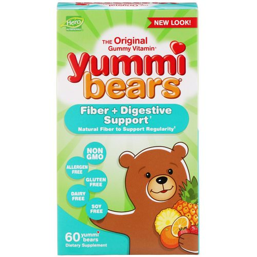 Hero Nutritional Products, Yummi Bears, Fiber + Digestive Support, 60 Yummi Bears Review