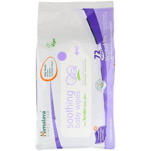Himalaya, Soothing Baby Wipes, Alcohol Free, 72 Wipes Review