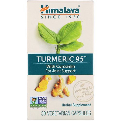 Himalaya, Turmeric 95 with Curcumin for Joint Support, 30 Vegetarian Capsules Review