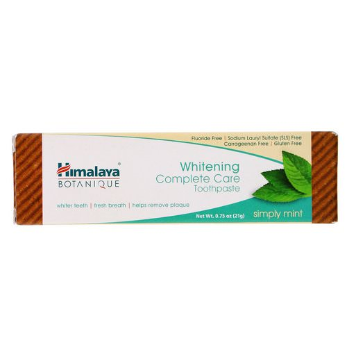 Himalaya, Whitening Mint Travel Toothpaste, Simply Mint, 0.75 oz (21 g) Review
