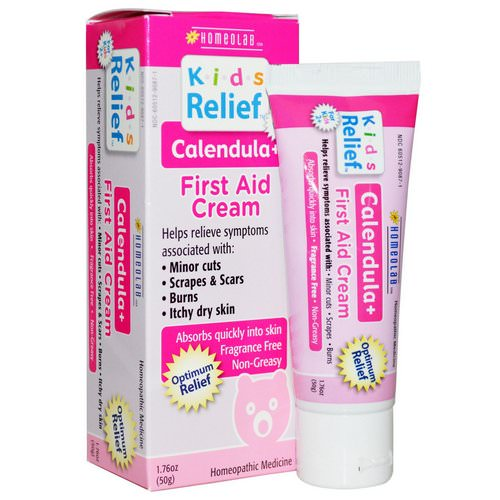 Homeolab USA, Kids Relief, First Aid Cream, Calendula +, 1.76 oz (50 g) Review