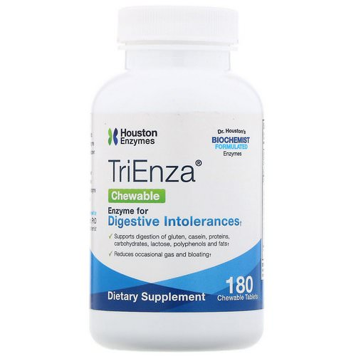 Houston Enzymes, TriEnza Chewable, 180 Chewable Tablets Review
