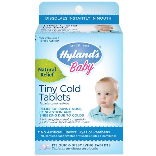 Hyland's, Baby, Tiny Cold Tablets, 6 Months +, 125 Quick-Dissolving Tablets Review