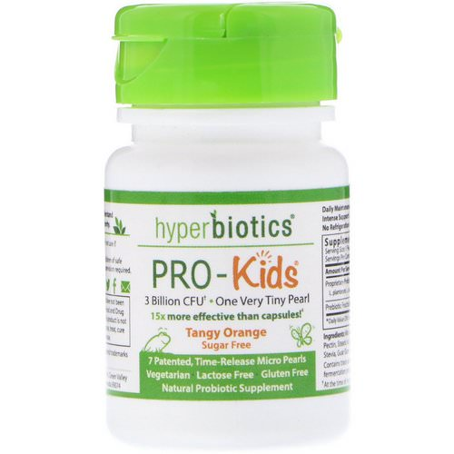 Hyperbiotics, PRO-Kids, Sugar Free, Tangy Orange, 7 Micro-Pearls Review