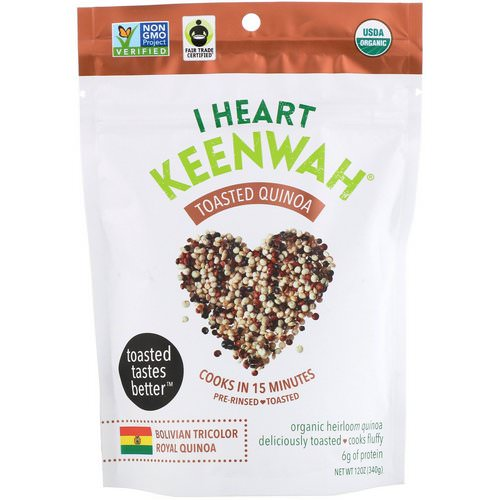 I Heart Keenwah, Toasted Quinoa, Bolivian Tricolor Royal Quinoa, 12 oz (340 g) Review