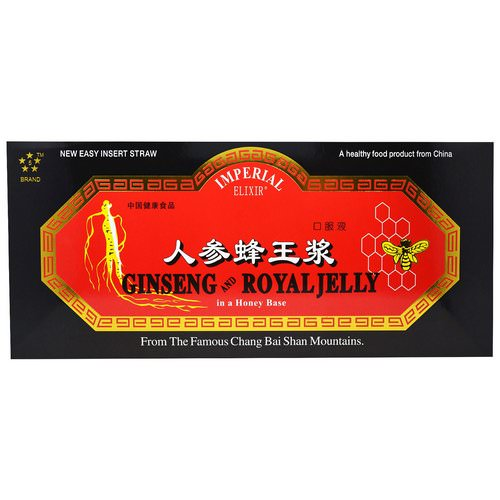 Imperial Elixir, Ginseng and Royal Jelly, 10 Bottles, 0.34 fl oz (10 ml) Each Review