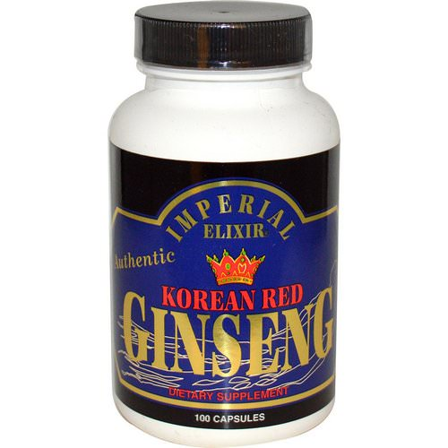 Imperial Elixir, Korean Red Ginseng, 100 Capsules Review