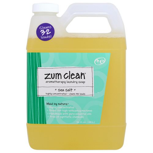 Indigo Wild, Zum Clean, Aromatherapy Laundry Soap, Sea Salt, 32 fl oz (.94 L) Review