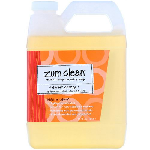 Indigo Wild, Zum Clean, Aromatherapy Laundry Soap, Sweet Orange, 32 fl oz (.94 L) Review