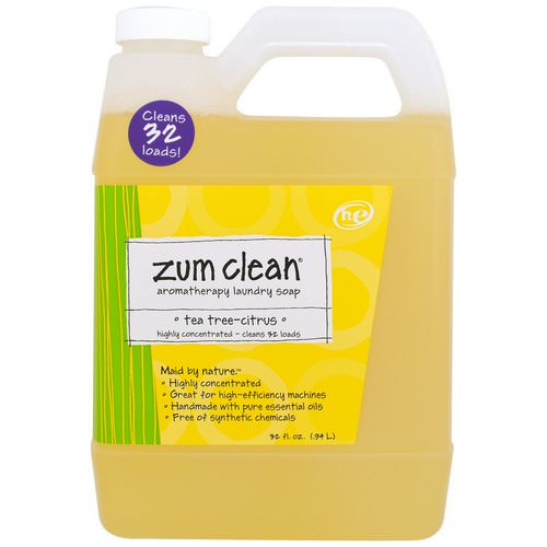 Indigo Wild, Zum Clean, Aromatherapy Laundry Soap, Tea Tree-Citrus, 32 fl oz (.94 L) Review
