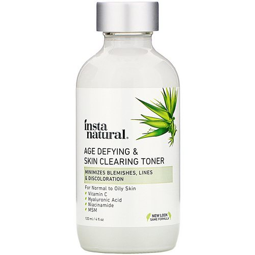 InstaNatural, Age-Defying & Skin Clearing Toner, 4 fl oz (120 ml) Review