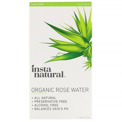 InstaNatural, Organic Rose Water, Alcohol-Free, 4 fl oz (120 ml) Review