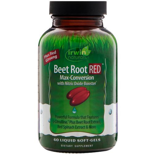 Irwin Naturals, Beet Root RED, Max-Conversion with Nitric Oxide Booster, 60 Liquid Soft-Gels Review