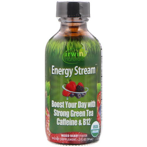 Irwin Naturals, Organic, Energy Stream, Mixed Berry Flavor, 2 fl oz (59 ml) Review