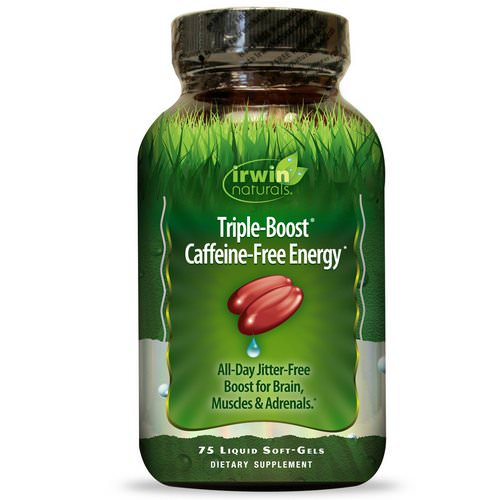 Irwin Naturals, Triple-Boost Caffeine-Free Energy, 75 Liquid Soft-Gels Review
